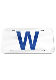 Chicago Cubs W Logo Mirror Car Accessory License Plate