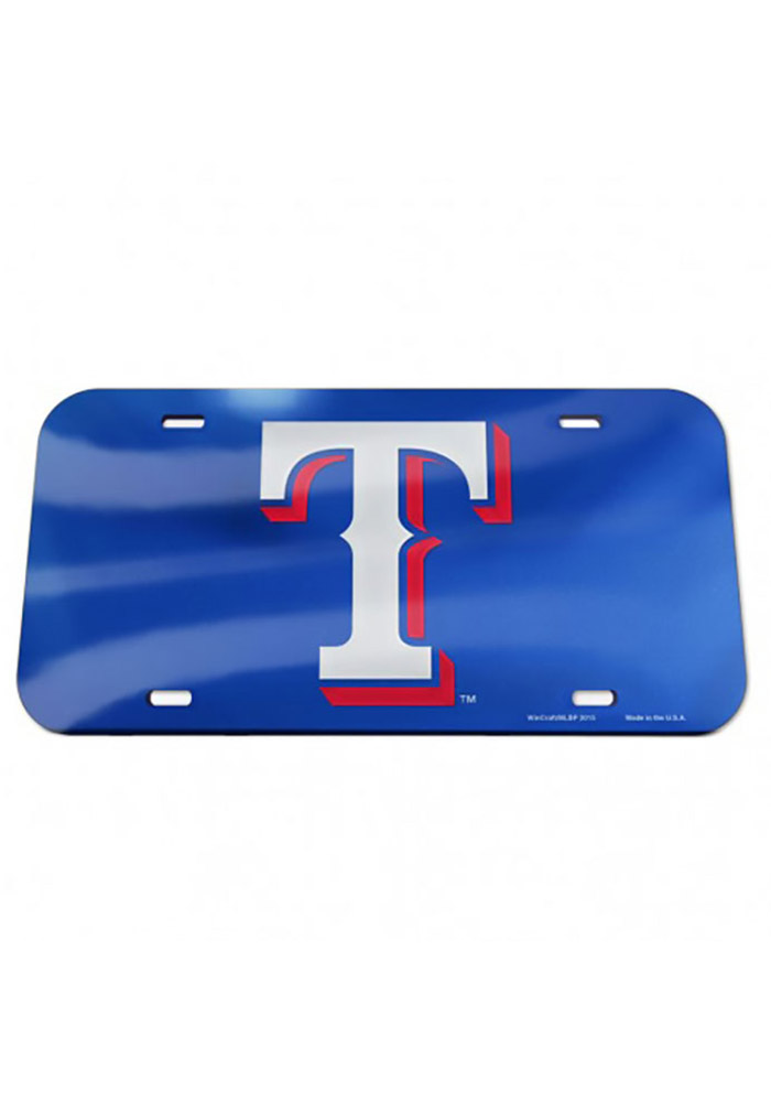 Texas Rangers Team Logo Mirror Car Accessory License Plate - Image 1