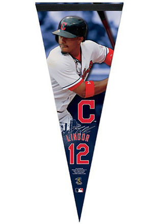 Cleveland Indians Francisco Lindor 12x30 Vertical Player Premium Pennant