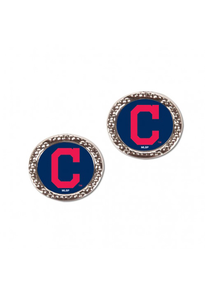 Cleveland Indians Hammered Womens Earrings - Image 1