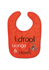 Cleveland Browns Baby I Drool Bib - Brown