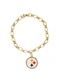Pittsburgh Steelers Womens Charm Bracelet - Black