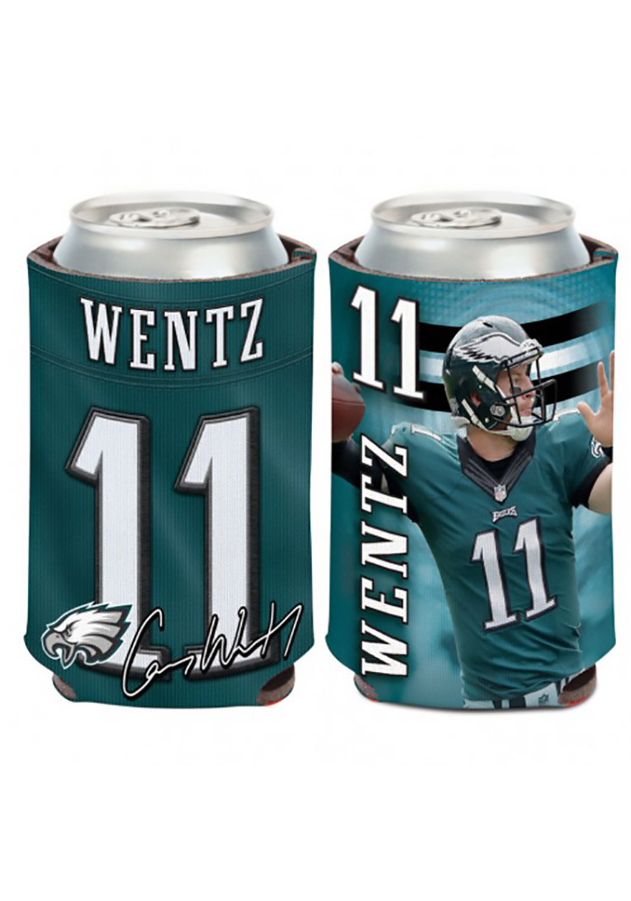 Philadelphia Eagles Carson Wentz 12oz Player Koozie - Image 1