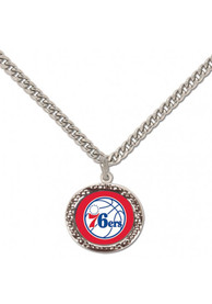 Philadelphia 76ers Womens Hammered Necklace - Red