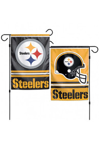 Pittsburgh Steelers 12X18 2-Sided Garden Flag