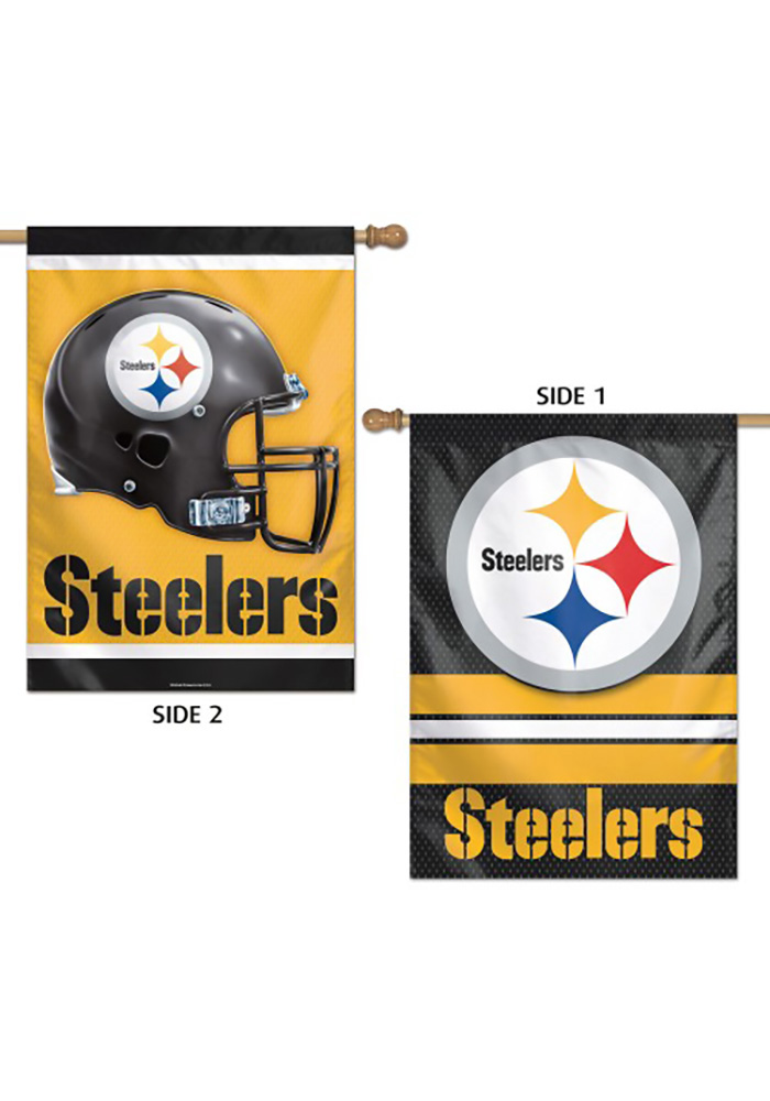 Pittsburgh Steelers 28X40 2-Sided Banner, Black