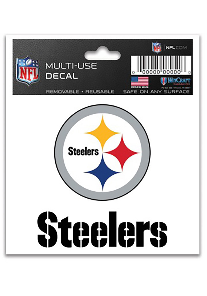 Pittsburgh Steelers 3x4 Multi-Use Auto Decal - White