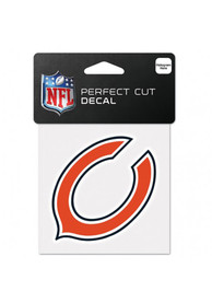 Chicago Bears 4x4 Full Color Auto Decal - Orange