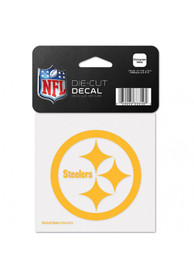 Pittsburgh Steelers 4x4 Full Color Auto Decal - Black