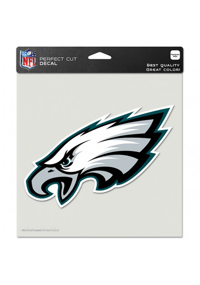 Philadelphia Eagles 8x8 Full Color Logo Auto Decal - Midnight Green - Image 1