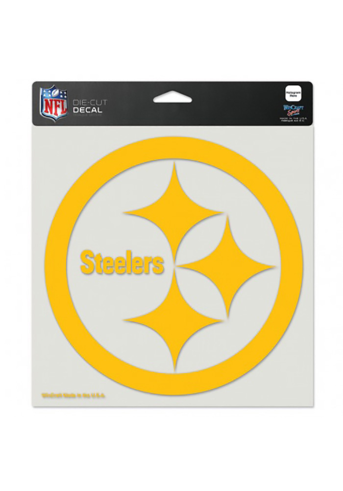 Pittsburgh Steelers 8x8 Full Color Logo Auto Decal Black 5714945