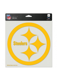 Pittsburgh Steelers 8x8 Full Color Logo Auto Decal - Black