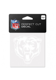 Chicago Bears 4x4 Logo Auto Decal - White