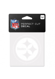 Pittsburgh Steelers 4x4 Logo Auto Decal - White
