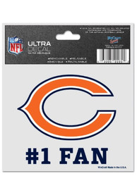 Chicago Bears 3x4 #1 Fan Auto Decal - Orange