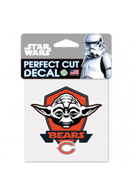 Chicago Bears 4x4 Star Wars Yoda Auto Decal - Orange