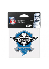 Detroit Lions 4x4 Star Wars Yoda Auto Decal - Blue