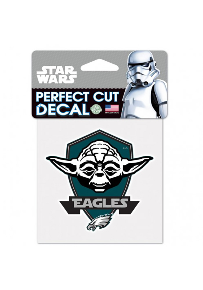 Philadelphia Eagles 4x4 Star Wars Yoda Auto Decal - Midnight Green - Image 1