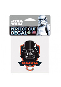 Chicago Bears 4x4 Star Wars Darth Vader Auto Decal - Orange