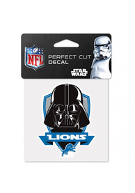 Detroit Lions 4x4 Star Wars Darth Vader Auto Decal - Blue