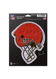 Cleveland Browns 5x7 Shimmer Auto Decal - Orange