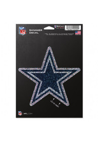 Dallas Cowboys 5x7 Shimmer Auto Decal - Navy Blue