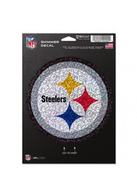 Pittsburgh Steelers 5x7 Shimmer Auto Decal - Black