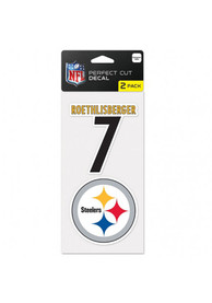 Ben Roethlisberger Wincraft Pittsburgh Steelers 2 Pack Player Auto Decal - Black