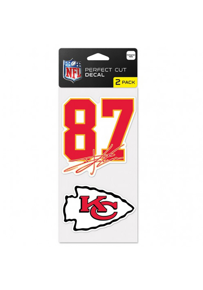 Travis Kelce Wincraft Kansas City Chiefs 2 Pack Player Auto Decal - Red - Image 1