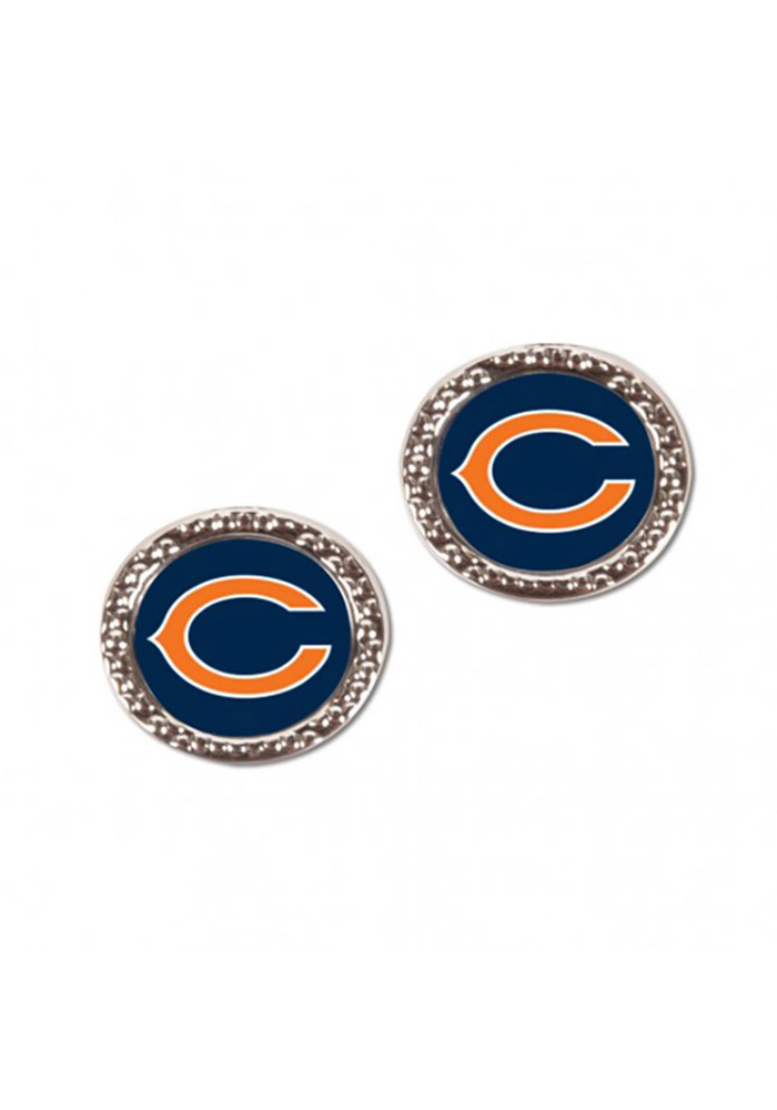 Chicago Bears Hammered Post Womens Earrings - Image 1