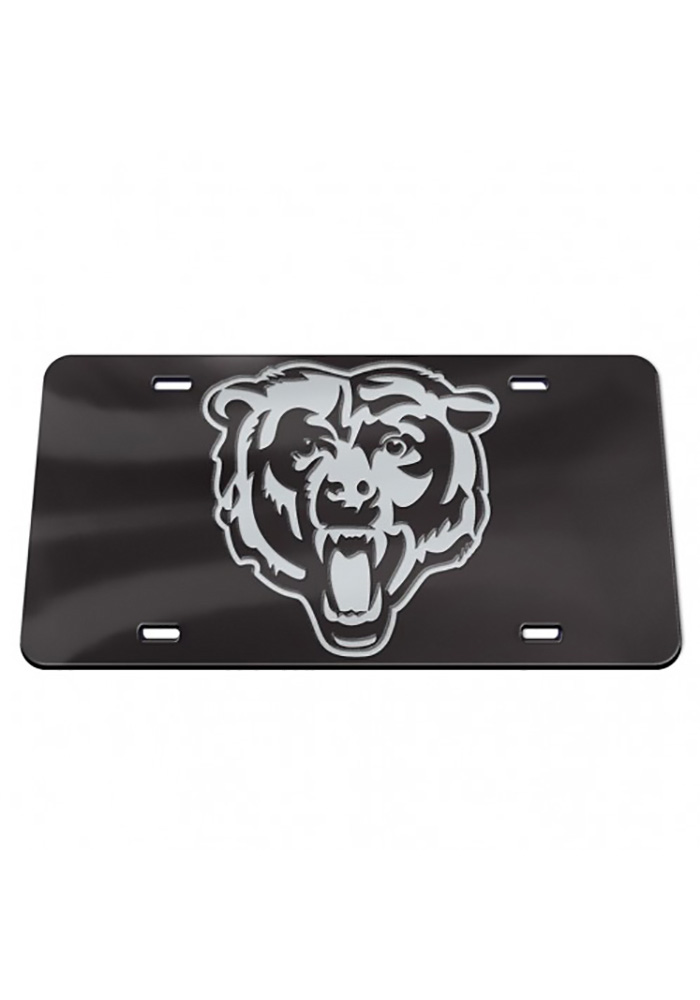 Chicago Bears Chrome Car Accessory License Plate - Image 1