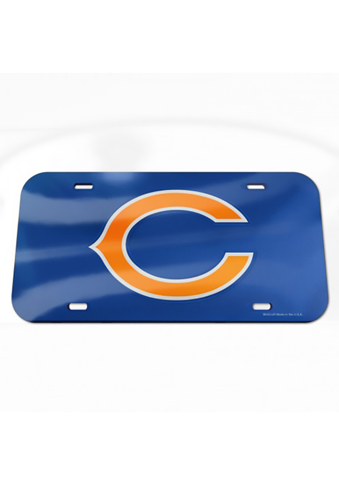 Chicago Bears Team Logo Inlaid Car Accessory License Plate