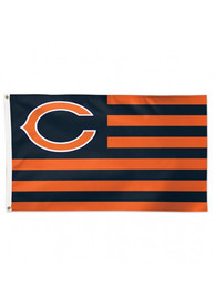 Chicago Bears 3x5 Americana Navy Blue Silk Screen Grommet Flag