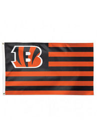Cincinnati Bengals 3x5 Americana Orange Silk Screen Grommet Flag
