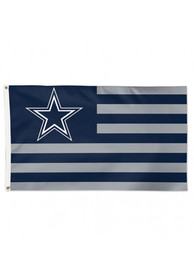 Dallas Cowboys 3x5 Americana Navy Blue Silk Screen Grommet Flag