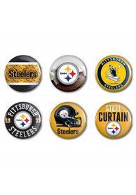 Pittsburgh Steelers 6 Pack 2 Inch Button