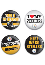 Pittsburgh Steelers 4 Pack 1.25 Inch Button