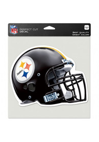 Pittsburgh Steelers 8x8 Perfect Cut Auto Decal - Black