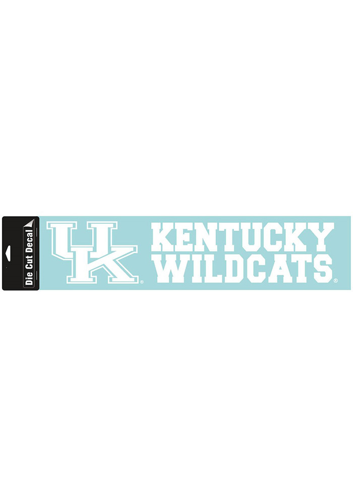 Kentucky Wildcats 4x16 Perfect Cut Auto Decal - White - Image 1