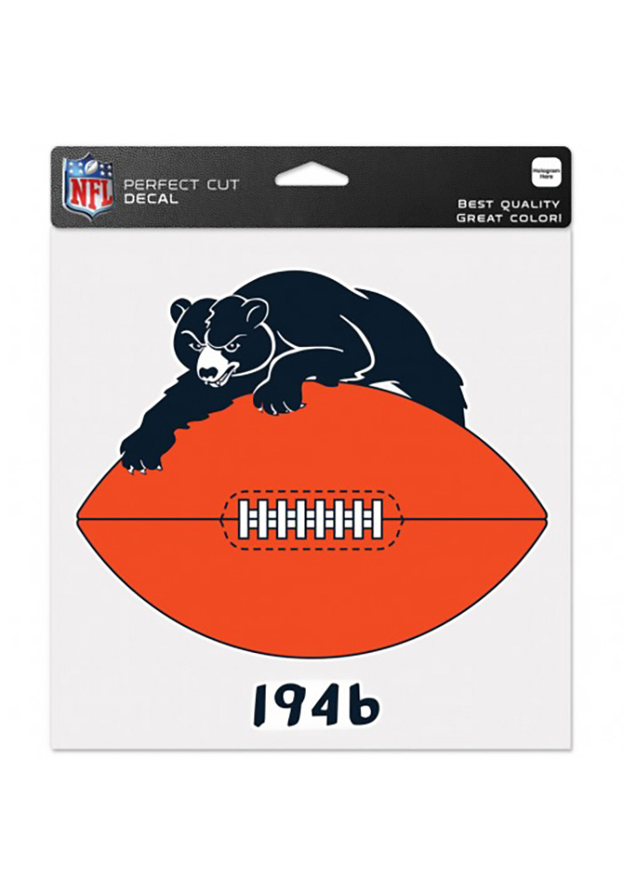 Chicago Bears Perfect Cut Auto Decal - Navy Blue - Image 1