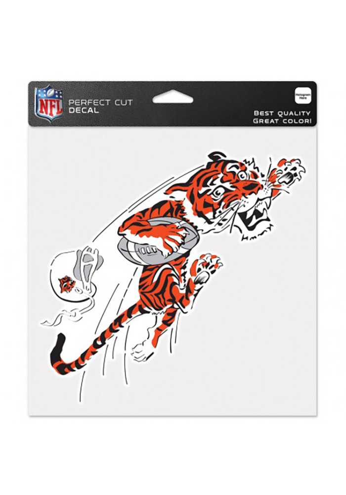 Cincinnati Bengals Perfect Cut Auto Decal - White
