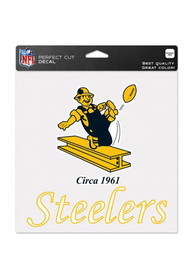 Pittsburgh Steelers Perfect Cut Auto Decal - Black
