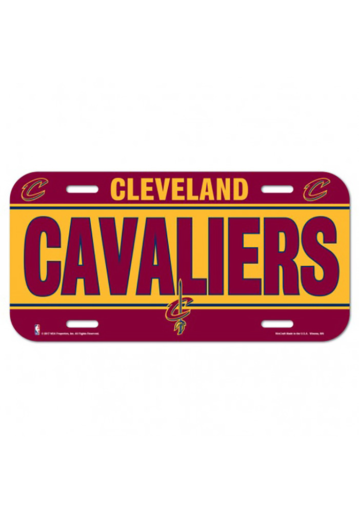 Cleveland Cavaliers Plastic Car Accessory License Plate - Image 1