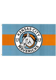 Kansas City Mavericks 3x5 Blue Silk Screen Grommet Flag