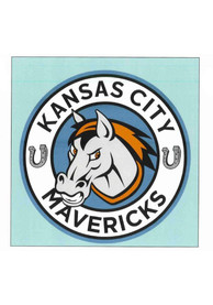 Kansas City Mavericks 8x8 Auto Decal - Blue