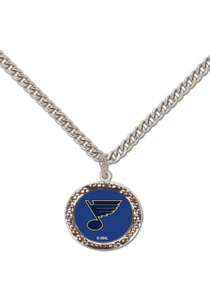 St Louis Blues Hammered Necklace - Image 1