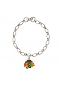 Chicago Blackhawks Womens Logo Bracelet - Silver