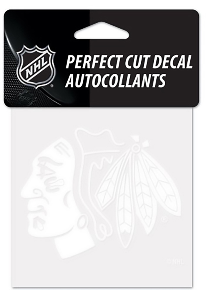 Chicago Blackhawks Perfect Cut Auto Decal - White - Image 1