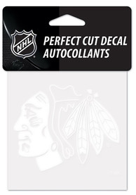 Chicago Blackhawks Perfect Cut Auto Decal - White