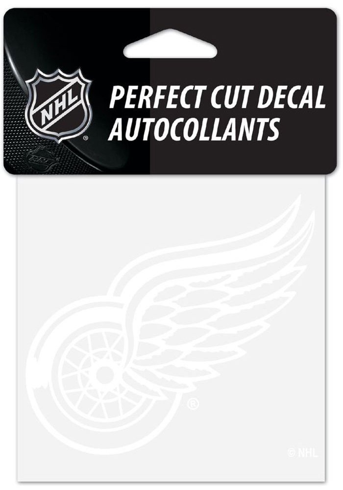 Detroit Red Wings Perfect Cut Auto Decal - White - Image 1